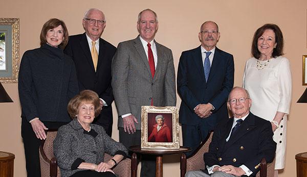 From left: Judy Jolley Mohraz, James Bruner, Stephen Zabilski, José Cárdenas, Sharon Harper, Seated: Laura Grafman and Paul Critchfield